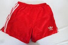 """Adidas Fußball/Sport Shorts 3 Streifen Rot UK Größe 34"""" 001 Y"""