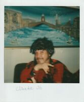 FUNKY CLAUDE Vintage POLAROID Found Photo FREE SHIPPING Man Art COLOR 85 26 I