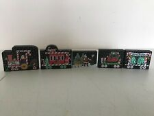 Lot 5 Cat'S Meow Christmas Candy Cane Express Train Wood Village Decoration