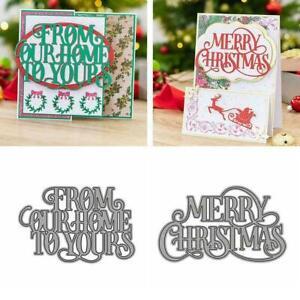 Merry Christmas Metal Cutting Dies Scrapbooking Paper Card Craft Making DIY L9Z4