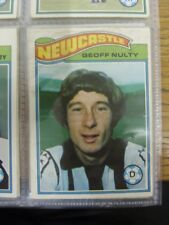 1978/1979 Newcastle United - Card No.171) Geoff Nulty (some marking to image) -