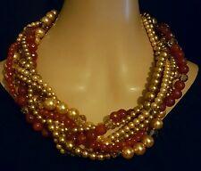 Heidi Daus Tailored Torsade Necklace  (Fall/Autumn colors)  Ret: $349.95