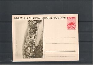 ALBANIA CLASSIC POSTAL STATIONERY BIRDS POST CARD BIRD (1076)