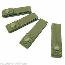 "Lot of 4 Condor 4"" Inch Molle MOD Straps for Tactical Gear Pouch - O.D. #223"