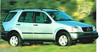 1997 / 1998 MERCEDES-BENZ ML-320 / ML320 SPEC SHEET / Brochure