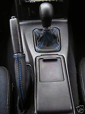 BLUE STITCH FITS MAZDA MX5 MIATA MK2 1998-2000 GEAR SHIFT BOOT HANDBRAKE GATOR