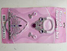 Princess Tiara & Jewellery set Earring Necklace Costume Dress Up Play Girls