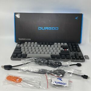 Durgod TaurusK320 Keyboard Corona Space Gray White Light Cherry Silent Red -READ