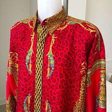 vintage GIANNI VERSACE silk shirt BERAIN MINIATURE print Style worn by Maradona