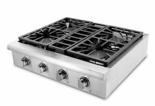 "THOR KITCHEN 30"" Stainless Pro-Style HRT3003U Gas Rangetop Cooktop, 4 Burners"