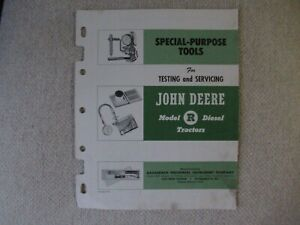 1954 John Deere R tractor special-purpose tools brochure by Bacharach Company