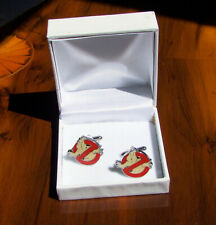 Vintage Ghostbusters Logo bar Cufflinks. Superb near-new condition/original box