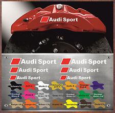 8 pièces Audi Sport étrier Autocollant Sticker Chaleur Résistant rs4 r8 as8w