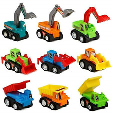 Construction Vehicles Car Toys Mini, Small Model Party Cake Decorations Pull Toy