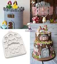 Katy Sue ENCHANTED WINDOW & FLOWERS Sugar Buttons Silicone Sugarcraft Mould