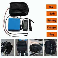 8AH 36V  Removable Lithium Battery + Charger Li-ion For Electric  EBike Bicycle.