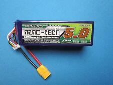 TURNIGY NANO-TECH 5000mAh 6S 22.2V 65C 130C LIPO BATTERY XT90 HELI PLANE TRUGGY