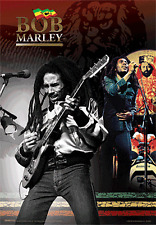 3D Lenticular Poster BOB MARLEY - Playing Guitar - 8x10 - ready to hang or frame