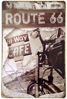RETRO METAL WALL SIGN TIN PLAQUE VINTAGE SHABBY CHIC GARAGE ROUTE 66 USA CAR US