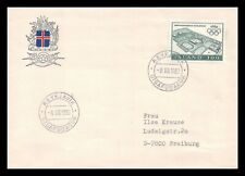 Iceland 1980 FDC, The Olympic Games in Moscow. Sports Complex Reykjavik. Lot # 3