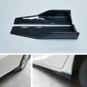 Carbon Fiber Side Skirt Splitter Lip Body Protector Diffuser Universal Car SUV