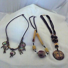 Lot of 3 unique beaded necklaces <<<LOOK>>>