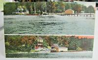 1916 ANGOLA INDIANA POSTCARD of Lake James Lake View postcard Angola Indiana