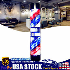 Barber Shop Sign Lamp Rotary Stripes Pole Light Wall-Mounted Hair Salon Light