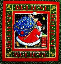 CHOOSE ONE : MARY ENGELBREIT BELIEVE CHRISTMAS HOME SWEET COTTON FABRIC PANELS