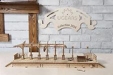 UGears Railway Platform mechanical wooden model KIT 3D puzzle Assembly
