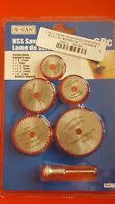 6pcs 22-44 mm HSS Scie Disques Roues lames tranchantes pour Dremel Perceuses outils rotatifs