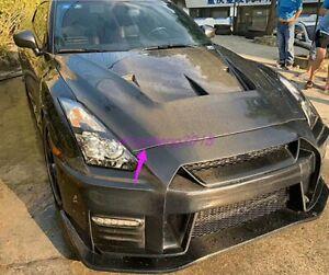 Carbon Fiber Front Hood Vented Bonnet Cover Fit For Nissan GTR R35 2009-2017