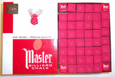 Master Pool Cue Billiard Chalk - Gross 144 Pieces - Red - SHIPS SAME/NEXT DAY!