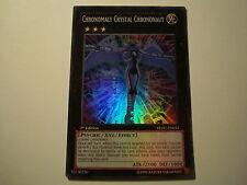 YU GI OH  Chronomaly Crystal Chrononaut REDU-EN042 1st Edition Super Rare
