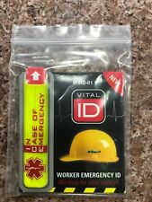 New listing Vital Id Wsid-01 Worker Emergency Id Ice 1 Pc (We Combine Shipping for free!)