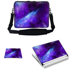 "Neoprene Laptop Bag w Shoulder Strap & Matching Skin Mouse Pad Fit 17.3""  3129"