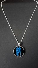 """Surfer Surfing Pendant On 18"""" Silver Plated Fine Metal Chain Necklace Gift N479"""