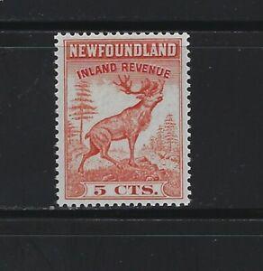 NEWFOUNDLAND - #NFR46 - 5c CARIBOU INLAND REVENUE MINT STAMP MNH