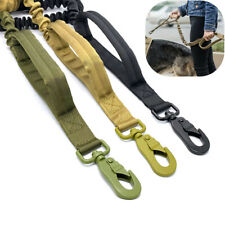 Retractable Nylon Rope Dog Training Leash Tactical Medium Large Dog Heavy Duty