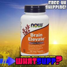 NOW Foods BRAIN ELEVATE Cognitive Function x120 Veg Caps Phosphatidyl Ginko Rose