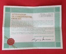 ROLEXOpen 1964 Guarantee Warranty Certificate 1 Million Serial 1960s Vintage
