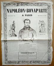 Affiche. Louis Napoléon Bonaparte à Paris. 17 septembre 1848.