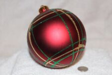 """Burgundy Glitter  Shatterproof Christmas Ball Ornament 4"""" (100mm)"""