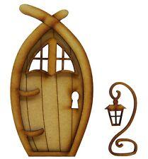 Wooden Fairy Door - Narnia Fairy Door Craft Kit with Lantern & Fairy Windows