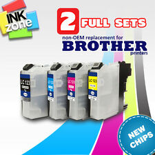 2 Full Sets of Replacement Inks for Brother DCP-J132W DCP-J152W ** NEW CHIPS **