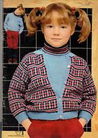 Catalogue tricot Phildar spécial enfants 2 à 15 ans 50 modèles année 1981