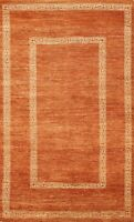 Geometric Gabbeh Kashkoli Oriental Area Rug Hand-knotted Modern Foyer Carpet 4x7