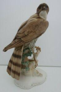 vintage HUTSCHENREUTHER Germany porcelain PERCHED EAGLE figurine Karl TUTTER af
