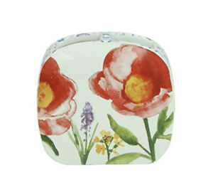 Bacova Guild Merry May Toothbrush Holder ~ Floral Design Red Blue - Bath Home