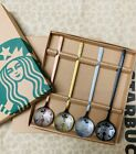 2021 Hot 4pcs Starbucks Coffee Spoons Set Colorful Stainless steel304 Spoon Gift